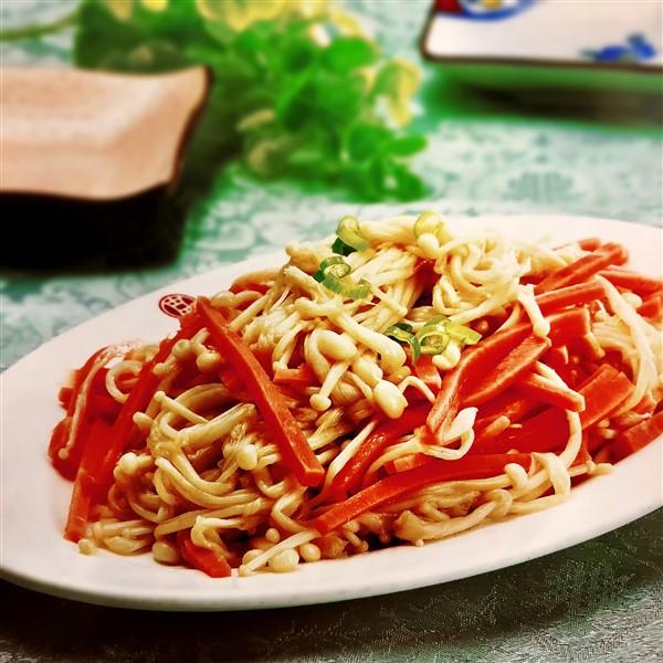 Enoki Mushroom Salad Unfamiliar China